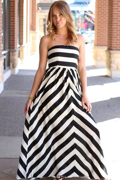 RED CARPET GLAM MAXI DRESS $45.00 Black and White Striped Maxi ...