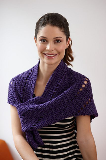 Ravelry: Royal Triangle Shawl by Lion Brand Yarn