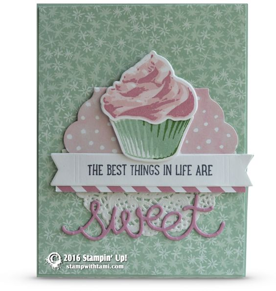 CARD: The best thing in life are sweet from Sweet Cupcake