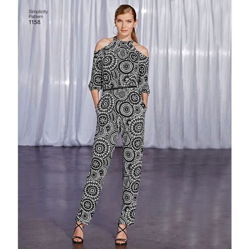 Simplicity Pattern 1158 Misses' Project Runway Jumpsuits: