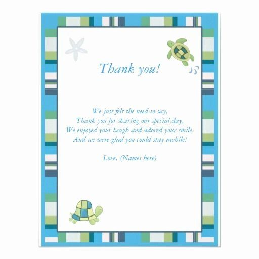 Baby Shower Card Note Luxury Turtle Bay Baby Shower Thank You