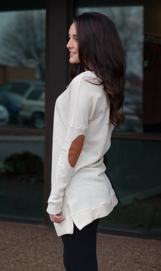 Slit Side Knit Top (Ivory) |
