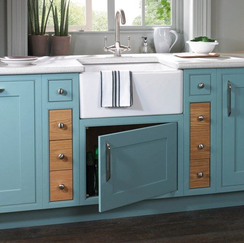 Duck Egg Blue Kitchen. I Like This Color And The Farm Sink