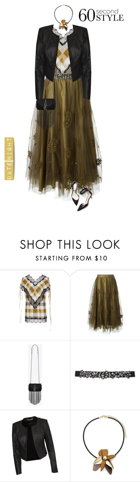 """Untitled #603"" by modernmoda ❤ liked on Polyvore featuring Wes Gordon, P.A.R.O.S.H., Yves Saint Laurent, M&Co, Cooper St, Marni, 3.1 Phillip Lim, women's clothing, women and female"