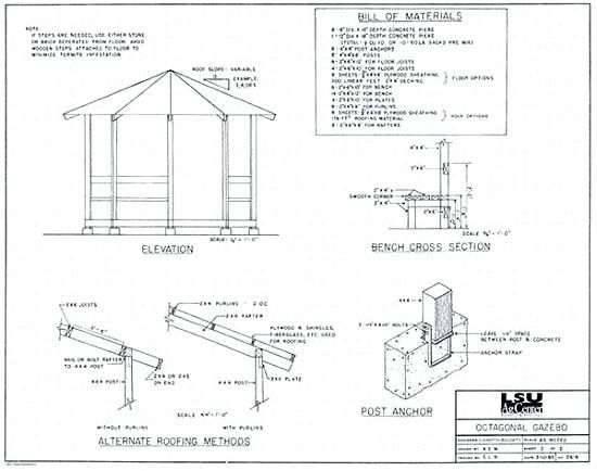 Square Gazebo Plans 10x10 Free Blueprints Octagonal Square Gazebo Plans 10 215 10 Foot Octagonal Gazebo Gazebo Plans Diy Gazebo Gazebo