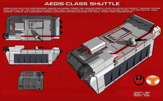 Aegis Class Combat Shuttle ortho [1] [new] by unusualsuspex on deviantART