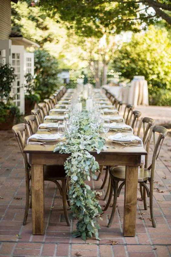 Mesa de boda rustico chic