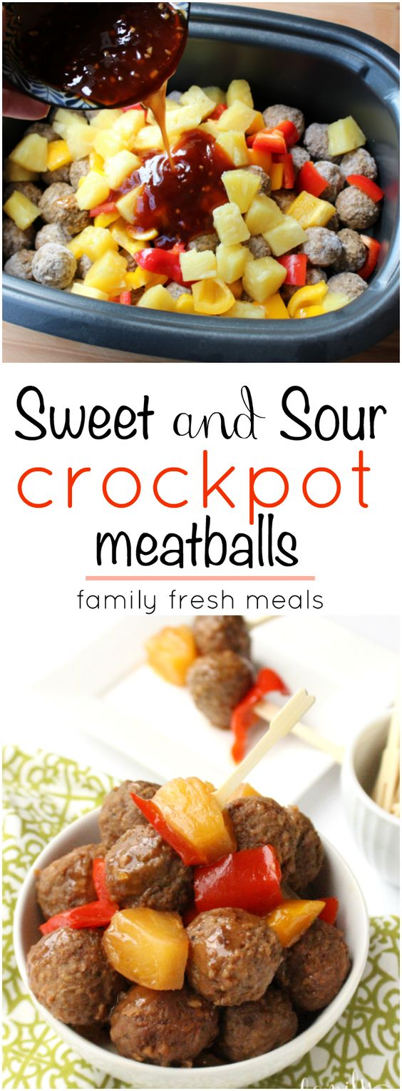The Best Sweet and Sour Meatballs. This is one of my go to easy meals ...