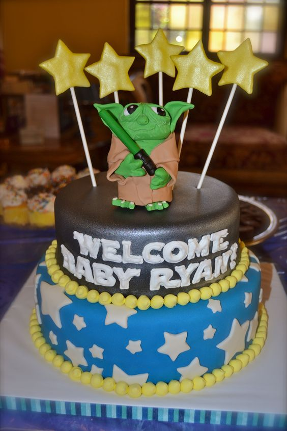 Star Wars Baby Shower Cake | My Cakes | Pinterest | Star Wars Baby, Shower  Cakes And Cake