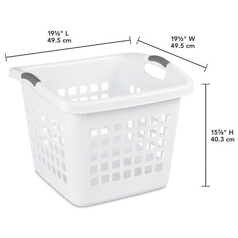 1 75 Bushel Square Laundry Basket White Room Essentials