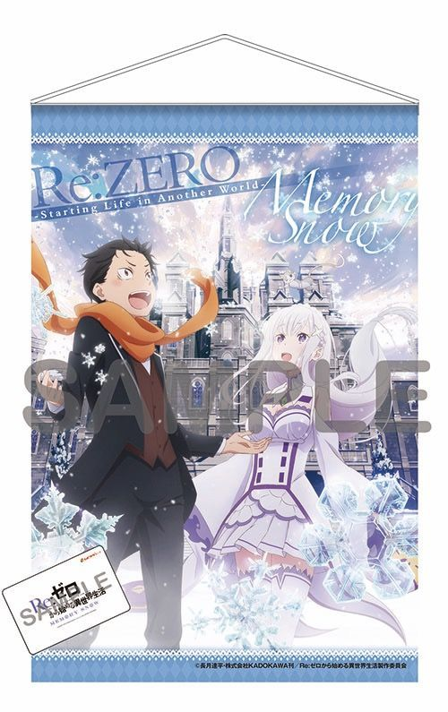 Re Zero Starting Life In Another World Memory Snow Tapestry Another World Snow Tapestry Japanese Anime