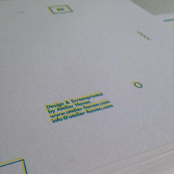 two color silkscreen printed flyers
