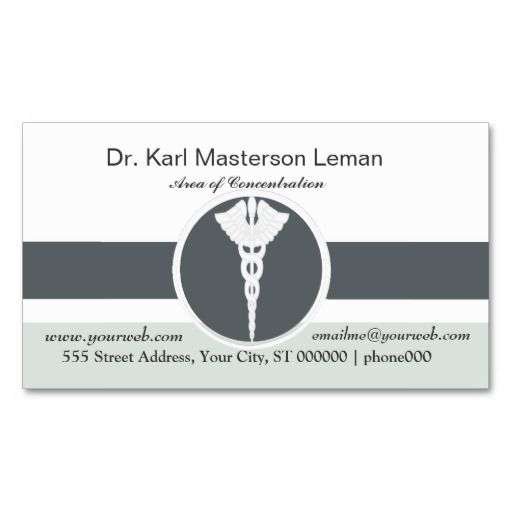 Medical doctor office appointment business card for Doctors business cards