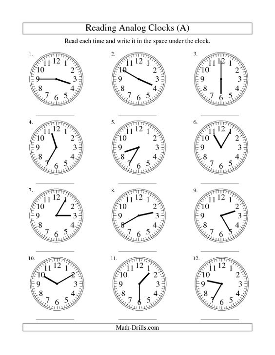 Time Worksheets time worksheets to the nearest 15 minutes : Measurement Worksheet -- Reading Time on an Analog Clock in 5 ...