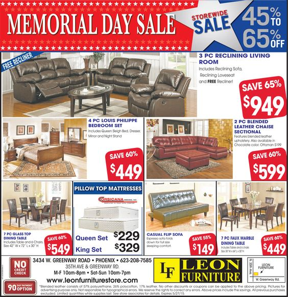 Memorial day sales Memorial day and Furniture on Pinterest