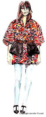 Fashion Illustration by Jennifer Purcell  Balenciaga 2012 pre-fall