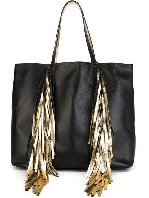 Shoppen Sara Battaglia Shopper mit Metallic-Fransen von Sara...