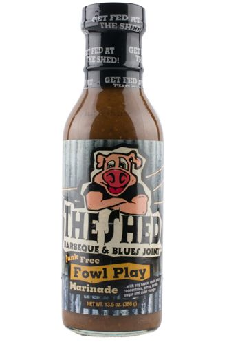 The Shed BBQ Store - The Shed BBQ Fowl Play Marinade , $4.39 (http://store.theshedbbq.com/the-shed-bbq-fowl-play-marinade/)