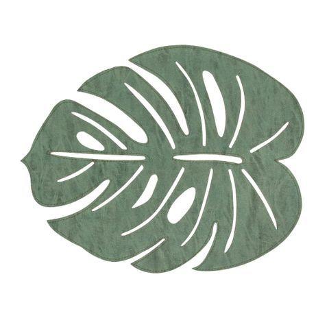 Jogo Americano Folha Verde 30x45cm 32546 Folhas Jogo Americano Folhas Verdes