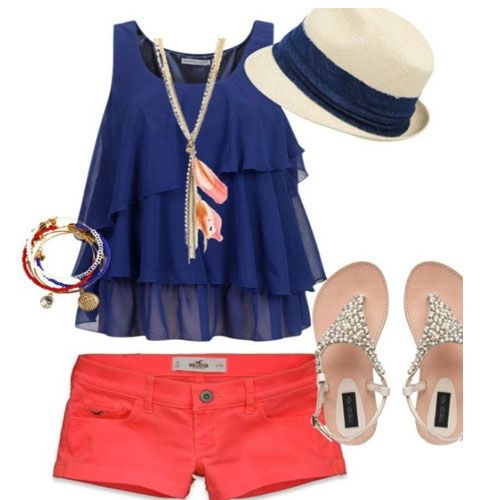 I would need the shorts to be a little bit longer but cute outfit!