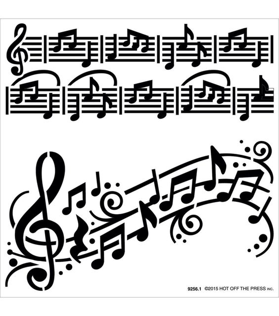beautiful  music notes and stencils on pinterest