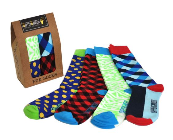 Buy 2 Packs and shipping is FREE! DapperGanger Fun Socks were designed to amp-up your style and get you compliments. We design socks with vivid colors and patterns that look great with any wardrobe. T