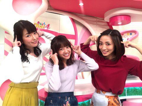内田敦子oha4スタジオで可愛いポーズ