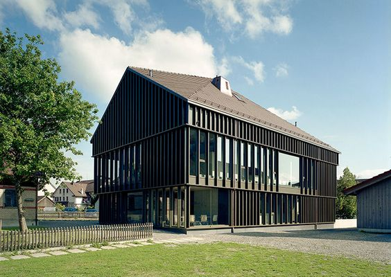 BDE Architekten - Parish House, Wiesendangen, 2007. Photos (C) Christian Schwager.