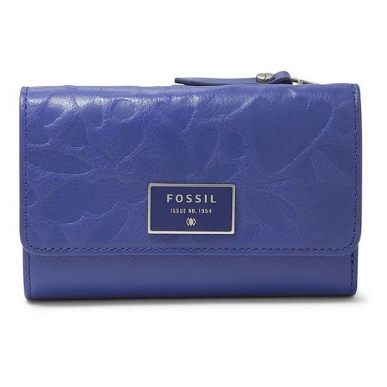 Fossil Dawson Multifunction Wallet Sl6932452 Color: Blue Floral Wallet