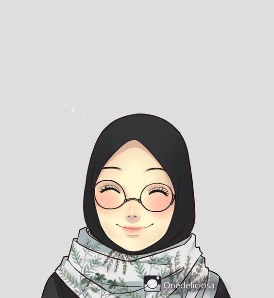 150 Gambar Kartun Muslimah Berkacamata Cantik Sedih Terlengkap Ilustrasi Seni Islami Gambar
