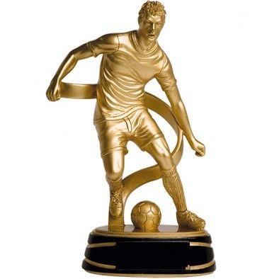 Trofeo de resina disponible en tres alturas y de color oro mate. #trofeosonline
