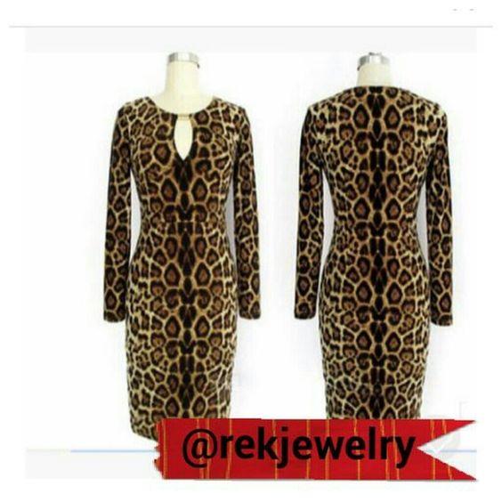 Selling this Sexy Leopard Bodycon Dress in my Poshmark closet! My username is: rekjewelry. #shopmycloset #poshmark #fashion #shopping #style #forsale #Dresses & Skirts