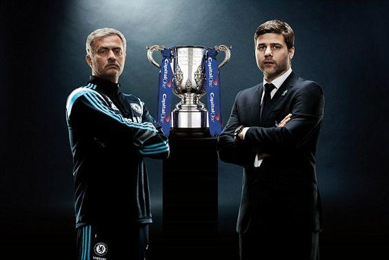 2015 Capital One Cup Final: Jose Mourinho (Chelsea) vs. Mauricio Pochettino (Tottenham)