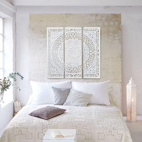 Wanddeko 3 Tlg Thalia Antik Look Holz Wanddeko Schlafzimmer