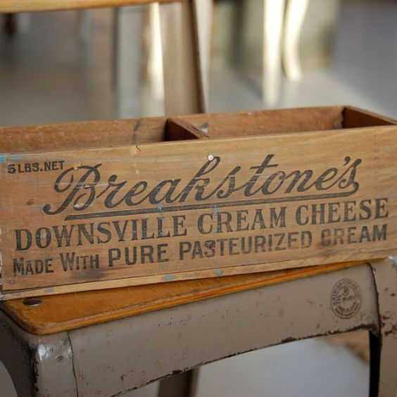 Vintage Cream Cheese Box/ Drawer by VintageJunkyStyle on Etsy, $18.00