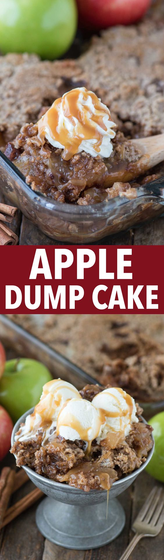 Easy to make 5 ingredient apple dump cake! It's one of the best fall desserts…