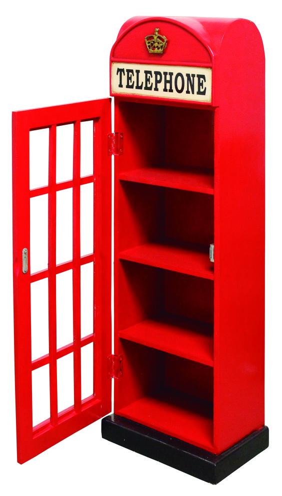 Porta Objetos Cabine Vermelha, LoucosPorDesign.Com - Moderno, Criativo e Original