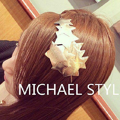 Lady Hair Band Fashion Headband Punk Star Metal J.Charm