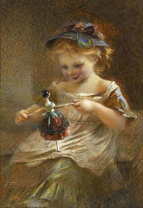 Emily Farmer The Doll © https://www.livemaster.ru/topic/2010369-devochka-s-kukloj-podborka-zhivopisi-i-grafiki-iz-36-kartin