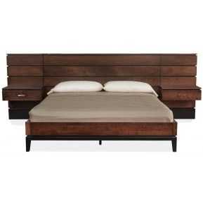 frisco mocha nut king bed with nightstands gallery furniture houston tx - Bed Frames Houston