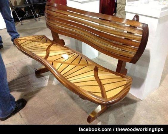 Wow such detail and so beautiful amazing bench by pete for Beautiful wooden benches