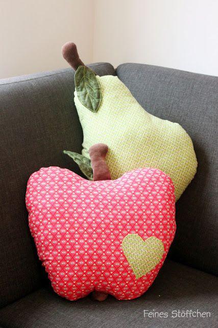 Apfelkissen | Feines Stöffchen: Nähen für Kinder, kostenlose Schnittmuster, Stickdateien, Stoffe und mehr.