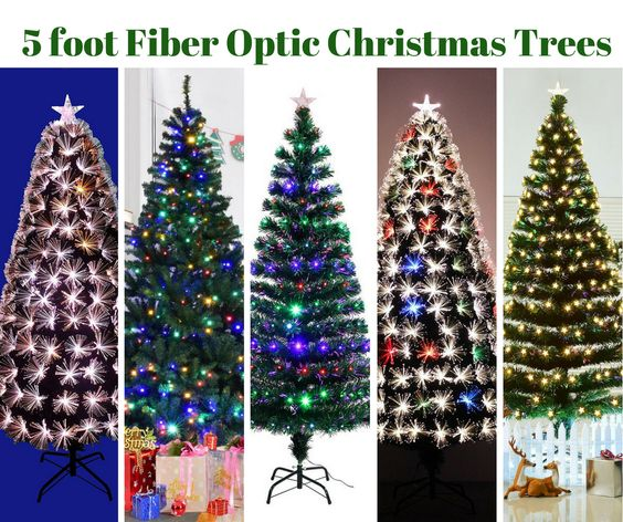 5 Foot Fiber Optic Christmas Trees