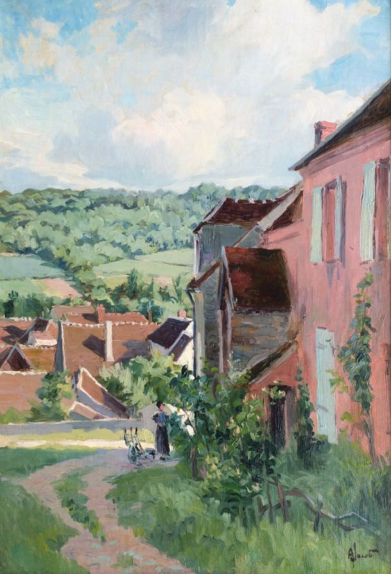 The Corner of the Village - Alexandre Louis Jacob: