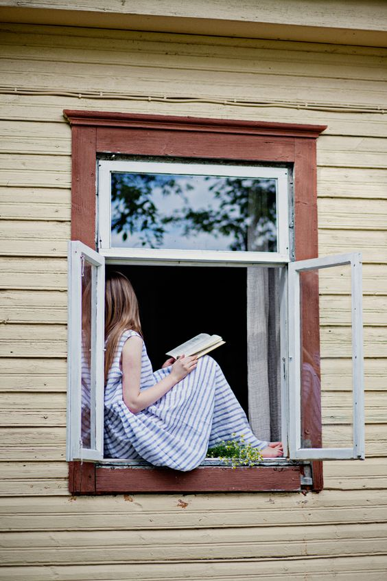 Reading in the window