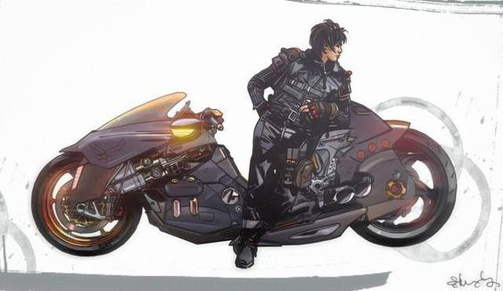 Akira concept art by Tommy Lee Edwards *