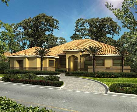 Plan 32186aa 4 Bed Home Plan With Jack And Jill Bath Spanish Style Homes Mediterranean Style House Plans Mediterranean Homes Exterior