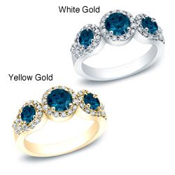 @Overstock - Round Diamond Engagement Ring14k White/Yellow Gold Click here for ring sizing guidehttp://www.overstock.com/Jewelry-Watches/14k-Gold-1-1-2ct-TDW-Round-Blue-and-White-Diamond-Ring-G-H-I1-I2/6771030/product.html?CID=214117 $1,702.99