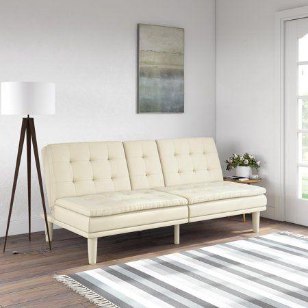 memory foam faux leather futon sofa bed