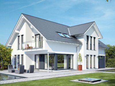 Celebration 211 V2 – Elegantes Zweifamilienhaus mit Satteldach-Querhaus und Giebelerker mit Balkon Typenhaus (27MLC44)